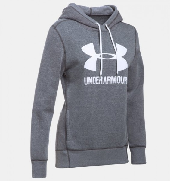 UA Women Fleece Hoodie Grey (090)