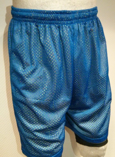 "A-Line Mesh Shorts Royal Blau/Gelb - SALE ""Online only"""