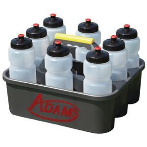 Adams Water Bottle Rack + incl. 8 bottles