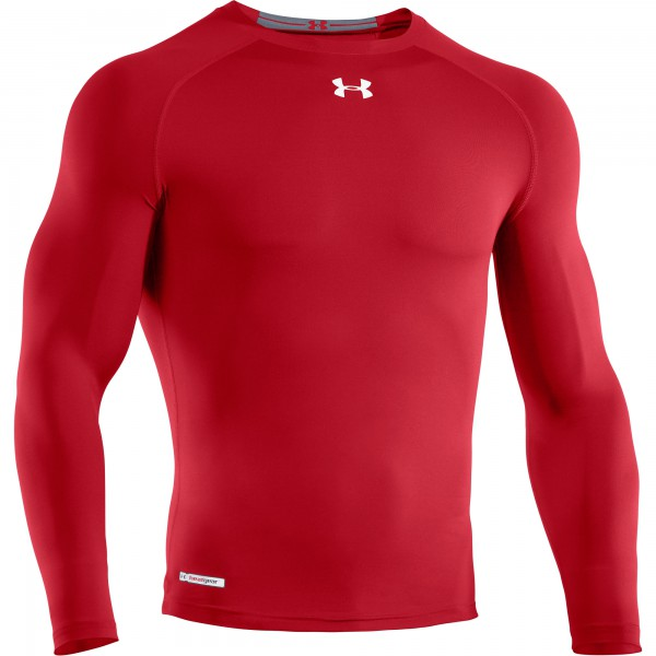 UA HG Sonic Compression Longsleeve Tee Red
