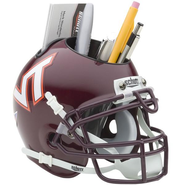 Schutt Mini Helmet Desk Caddy Virginia Tech Hookies