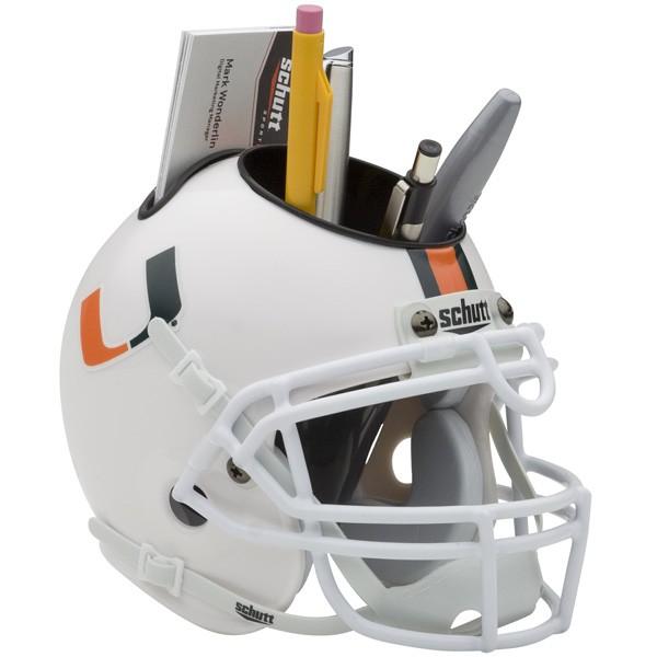 Schutt Mini Helmet Desk Caddy Miami Hurricanes