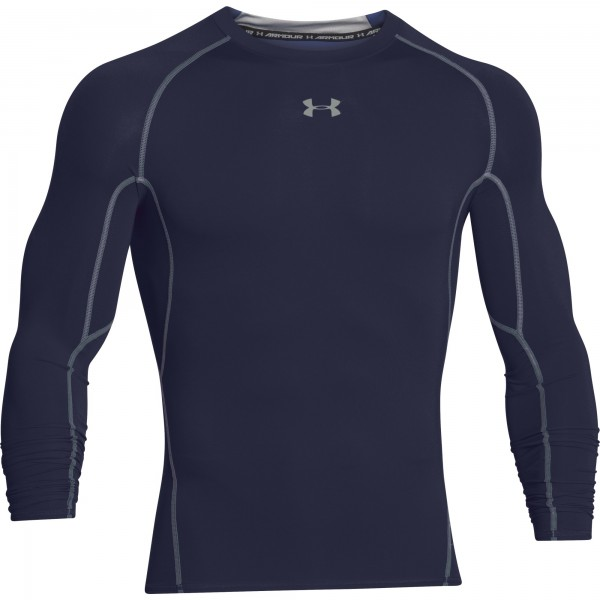 UA HG Armour Compression Longsleeve Midnight Navy (410)