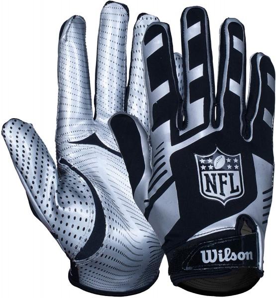 Wilson NFL Stretch Fit Glove Silver