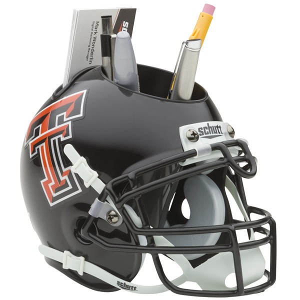 Schutt Mini Helmet Desk Caddy Texas Tech Rad Raiders