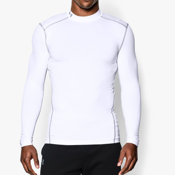 UA CG Armour Compression Mock White (100)