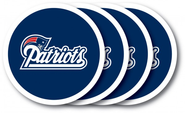 New England Patriots Coaster Set 4-Pack