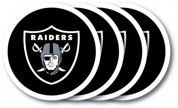 Oakland Raiders Coaster Set 4-Pack