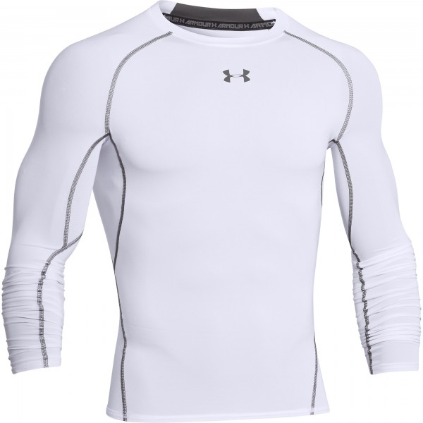 UA HG Armour Compression Longsleeve White (100)