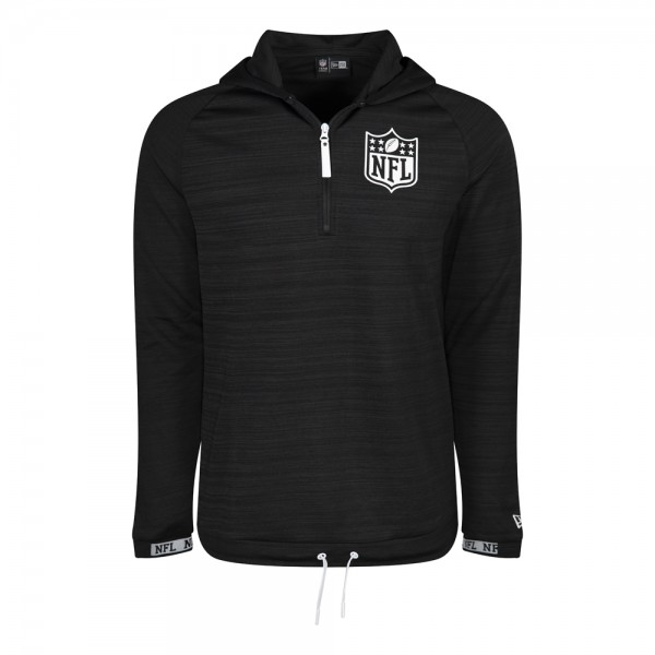 New Ere Engineered Half Zip NFL Black