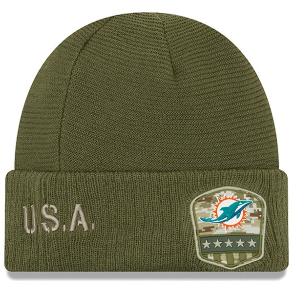 New Era OnField 19 STS Knit Hat Miami Dolphins