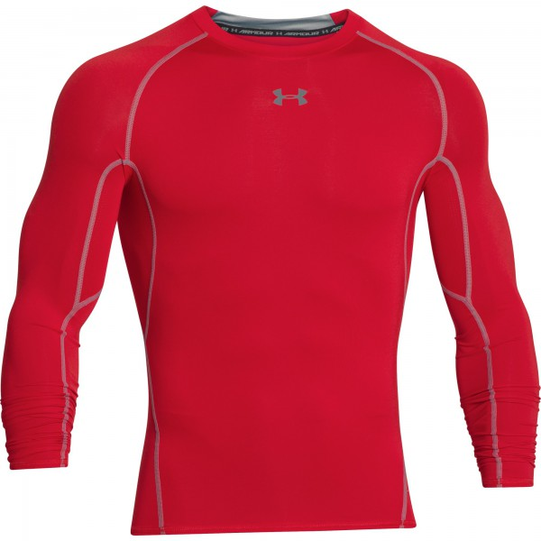 UA HG Armour Compression Longsleeve Red (600)