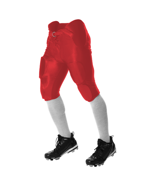 Alleson Game Pant mit integrierten Pads Red / Scarlet