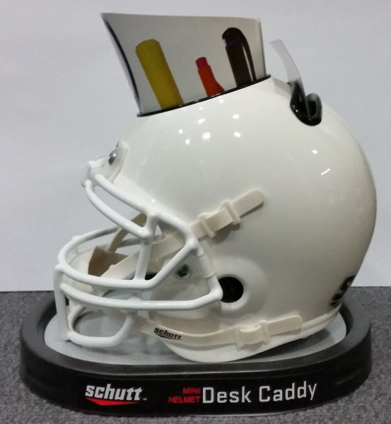 Custom Schutt Mini Helmet Desk Caddy