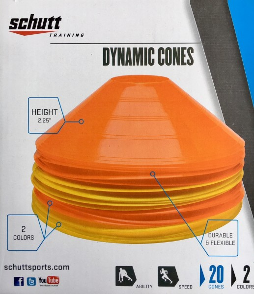 Low Profile Cones mix two color 20 pc Set