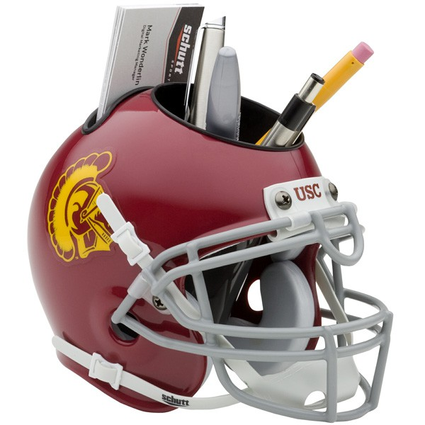 Schutt Mini Helmet Desk Caddy USC Trojans