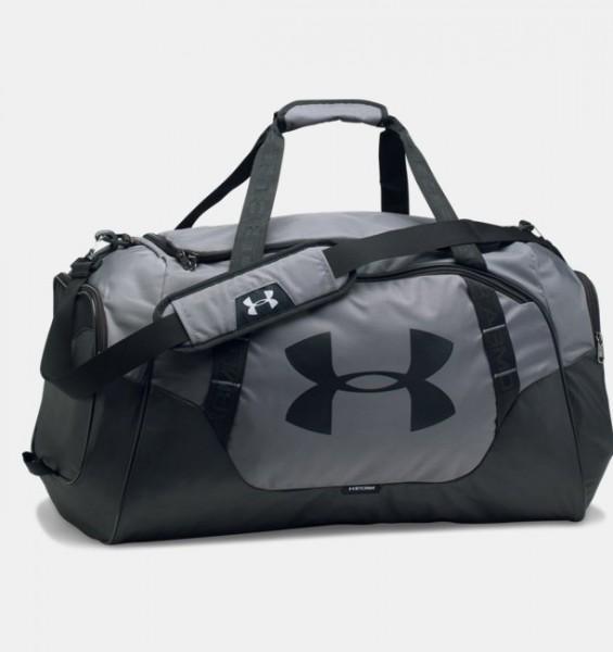 UA Medium Hustle Duffel Bag Grey